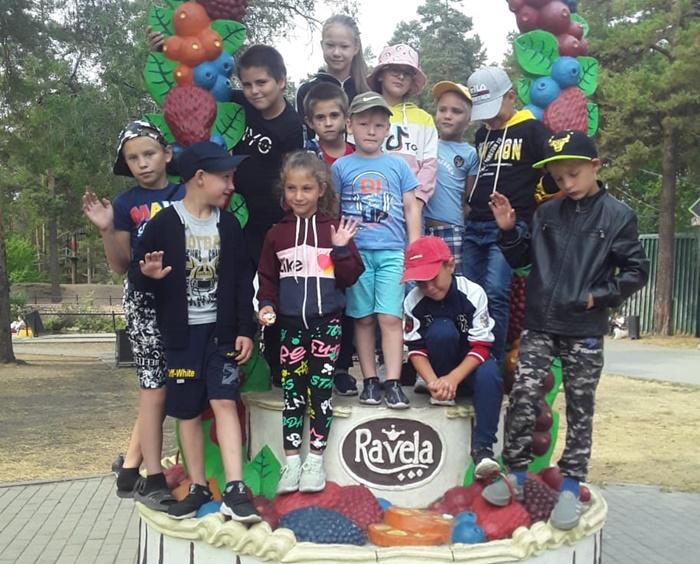 Дети побывали в парке «Лесной экстрим»