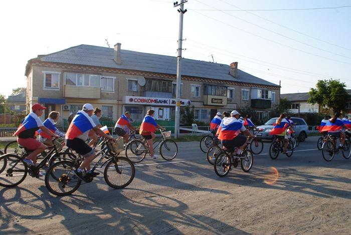 В райцентре состоялся массовый велопробег